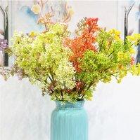 Lüks Dekoratif Çiçekler Çelenk Yapay Milan Meyve Romantik Ev Plastik Dekorasyon Sahte Çiçek Buketi Yeşil Bitki