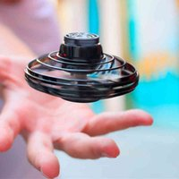 Mini Gyro ufo drone With Led Light Hand Induction Intelligent Pocket Spinner dron Model electronic rotating plane Toys for boys 210325