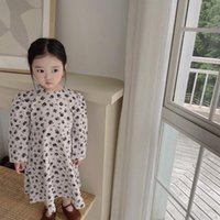Girl's Dresses Girl Dress Kids BabyParty Evening Gown 2021 Retro Warm Plus Velvet Thicken Winter Autumn Princess Long Sleeve Children Cloth