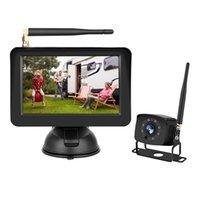 자동차 후면보기 카메라 주차 센서 5 인치 디지털 무선 컬러 LCD 모니터 카메라 170도 와이드 앵글 야간 투시 기능