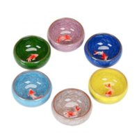Hielo Crack Glaze Ceramic Travel Tazón Vino Copa de pescado Copa simple