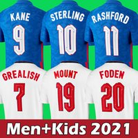 2021 잉글랜드 축구 유니폼 2022 Kane Grealish Sterling Rashford Sancho Mount Foden Maguire 축구 셔츠 남성 + 키즈 키트