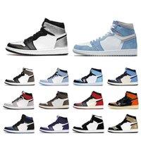 {5.5-13} 1S 1S Basketball Chaussures Hyper Royal Université Bleu Dark Mocha Court Purple Blanc Silver Toe Jumpman Mens Sport Sneakers Taille US 5.5-12
