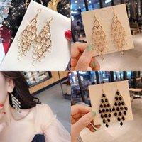 Stud Fashion Crystal Long Tassel Earring Dangle Hook Earrings Women Jeweley Gifts