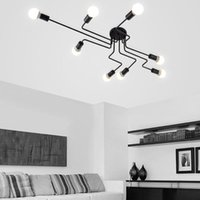 Ceiling Lights Vintage Lamps For Living Room Iluminacion Light Wrought Iron Luminaria E27 Bulb Home Lighting Fixtures