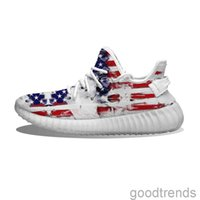 DIY pattern shoes Skull and USA Flag Melt Running Shoes Mesh Printed Mens Womens Trainers Outdoor sneakers