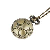 Retro Small Football Pocket Watch Pendant Necklace Commemorative Football Pocket Watch Retro One Piece Dropshipping Pocket Watch 7020