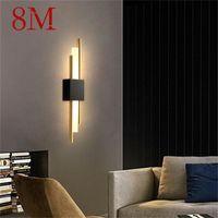 Wandleuchten 8m Nordic Messing Wandleuchte Modern Sconces Einfache Design LED Light Indoor Für Dekoration