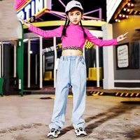 Neue Kinder Jazz Tanzen Kostüm Für Mädchen Kleidung Hiphop Performance Bühne Kleidung Kinder Lose Outfit Street Dance Hose 1404