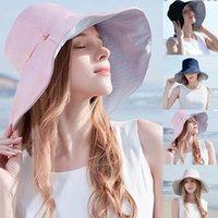 Wide Brim Hats Ladies Sunshade Bucket Hat Fashion Anti-UV Big Double-sided Fisherman's Sunscreen Sun Clothing Accessories #10