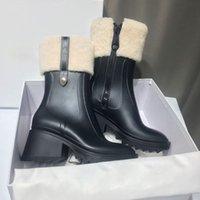 2021 Betty Yağmur Boot içinde PVC Kadın Tasarımcı Yağmur Çizmeleri Fermuar ile Tiftik Çorap Yüksek Boot Moda Açık Rahat Ayakkabılar Platformu Kauçuk Rainboots 327