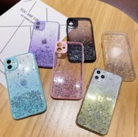 Gradient Starry Sky Glitter Candy Color Epoxy phone cases for iphone13 pro max 12 min 11 X XR XS 7 8 plus SE case cover