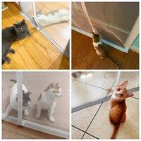 2021 고품질 고양이 고양이 물 커튼 지퍼 타입으로 음모 그물 맞춤형 화면 어린이 파티션 소프트 무료 천공 된 애완 동물
