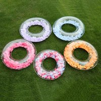 Life Vest & Buoy Women Summer Swimming Rings Inflatable Beach Feather Thicken Colorful Flotador Piscina Pool Accessories