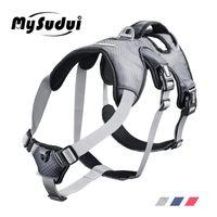 MySudui Medium Big Dog Arnés para perros Collares y arneses Coche Reflectivo Secure Multi-Use Harness Dog Harness Gran Chaleco 210325