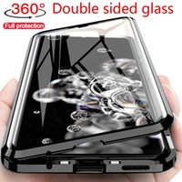 360 Full Protection Magnetic Cases For Samsung S21 A71 A51 A21S A12 A32 S20FE Ultra Plus Double Glass Cover case fit iphone 13 12 11 promax