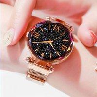 Designer luxury brand watches omen es Magnetic Starry Sky Ladies Wrist Stainless Steel Band Quartz Wrist Montre Femme Relogio Feminino