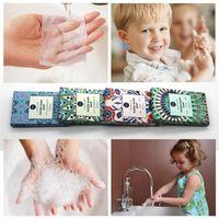 Misurazione anti-polvere mini da viaggio sapone per la lavorazione della carta per la lavorazione della mano delle tavole di lavaggio delle tavole di pulizia delle compresse di pulizia 4 colori fogli profumati HHD7452