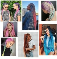 """26 """"Ombre Easy Hair Braids 합성 점보 Braids 90g / PC Afro Pre Stretched Braiding Hair Extension 온수 설정"""