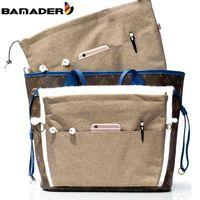 Bamader fourre-tout sac cosmétique adapté aux femmes sac de marque Haute Qualité oxford tissu maquillage organisateur insert sac de voyage Porte-mouton intérieur 210322
