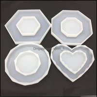 Jewelry Tools & Equipment Jewelryoctagon Heart Rhombus Molds Diy Sile Mold Jewellery Making Epoxy Resin Craft Polymer Clay Mud Board Drop De