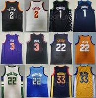 Takım Basketbol Collin Sexton Jersey 2 Anthony Edwards 1 Deandre Ayton Chris Paul 3 Khris Middleton 22 James Wiseman 33 RJ Barrett Dikişli İyi Erkekler Spor Üniforma Giymek