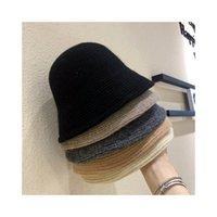 Adult autumn winter Korean fisherman hat Thickening warm knit woolen caps