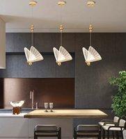 Bellissima farfalla LED a sospensione luce nordica soffitto lampada da soffitto Art Deco Chandelier 85-260V