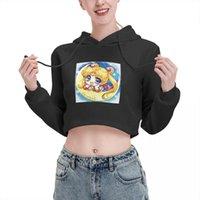 Felpe con cappuccio da donna Felpe Anime Cosplay Kawaii Vintage Stampa Maglione 00S Donne Crop Top Sailor Girl Apra NAVE GAV TOP Tops Streetwear
