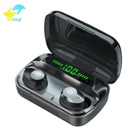 Vitog M5 TWS wireless bluetooth 5.0 headset sports waterproof touch earbuds 9D stereo music earphone gaming headphone with LED display and microphone