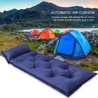Camping portátil Campo de dormir Colchões de ar inflável Moisture-àprovação Caminhada Ao ar livre Trekking Cama Almofada com almofadas de descanso