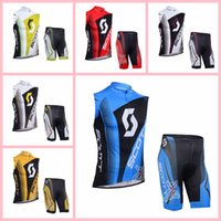 Scott Team Cycling Mangas cortas Jersey Shorts Chaleco sin mangas Conjuntos Transpirable y secado rápido Bike Bike Ropa 319023