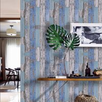 Art3D 17.7inx78.7in Peel and Stick Wallpaper - Decorativo autoadesivo Film Wood Wood Wallpapers per mobili Armadio controsoffitto Carta da parati, blu
