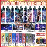 Authentische Randm Leo wiederaufladbare Einweg-Vape-Pen E-Zigarettengerät mit RGB-Licht 1100mAh-Batterie 12ml-Patrone 5000 Puffs Big Dampf-Kit
