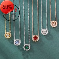 NewYork Stylist Pendant Necklace Fashion Crystal Drop Pen dant Necklaces Big Diamond Alloy Jewelries Women Gifts With Box Complete Package