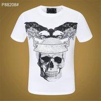 21ss Cristal Crânio Mens T-shirt T-shirt Urso Tees Imprimir Carta Skate Dólar Casual Punk tops Tee Polo Camisas Roupas Snake Manga Curta M-3XL