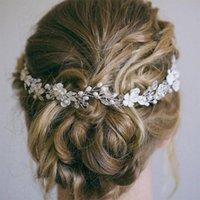 Hair Clips & Barrettes Bridal Headbands Wedding Accessories Crystal Pearl Headband Female Jewelry Tiara Women's