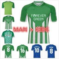 MAN KID KIT KIT 2021 Real Betis Soccer Jerseys 21 22 Joaquin Loren Boudebouz Bartra Home Away Stile Canales Commemorative Edition Fekir 2022