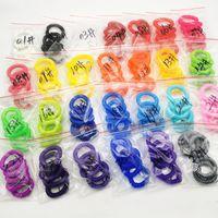 البلاستيك حلقة الشعر خط الهاتف سوار كيرينغ حاملي ذيل حصان دائرة مرونة رئيس حبل 100 لون واحد لكل حزمة رخيصة G38AYAA