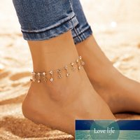 Boho Foot Circle Chain Ankle Summer Bracelet Pendant Charm Sandals Barefoot Beach Foot Bridal Jewelry