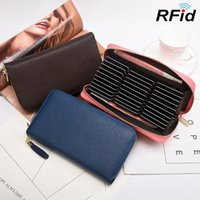 Summer men's wallet card bag all in one multi function RFID large capacity long women's organ
