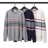TB THOM бренд осень мужская шерстяная свитер полосатый повседневная вершина кардиган женщин вязание о-шеи корейский дизайн высокая качественная толстовка