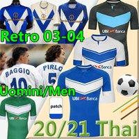 Brescia Calcio Soccer Jersey F.Aye Donnarumla 2021 Jagiello Spalek Maglietta 2003 04 Baggio Pirlo Retro Classic Vintage Football Jersers