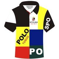 여름 자수 폴로 셔츠 남자 짧은 소매 캐주얼 셔츠 남자의 패치 워크 폴로 셔츠 플러스 5XL 남자 티셔츠 Masculina Camisa Polo 210329