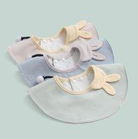 طفل تغذية المرايل الرضع البتلة مريلة القطن الخالص الشاش الوليد المرايل الطفل 360 درجة الغزل منشفة تجشؤ القماش EEB5524