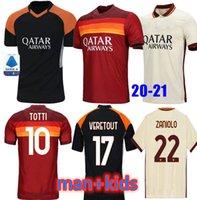 Roma Soccer Jersey Home Away Zaniolo Dzeko Pastore Totti Kluivert Kolarov ك 21 كرة القدم قميص 2021 Men + Kids Kit Oryms Mailleot 999