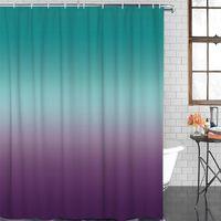 Duschvorhänge Cyan Türkis lila Gradient Vorhang Polyestergewebe Badezimmer Wohnkultur Wasserdicht mit Haken