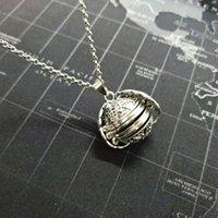 Pendant Necklaces Magic Po Memory Floating Expanding 5 Locket Necklace Plated Angel Flash Box Fashion