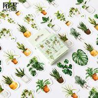 40pcs Green Oxygen Life Scrapbook Sticker Scrapbooking Pads Paper Origami Art Background Card Making DIY Gift Wrap