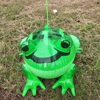 Partij gunst PVC ballonnen opblaasbare gloeiende kikker met elastische touw stuiteren kinderen Glow speelgoed ballon piepende been GWA9387
